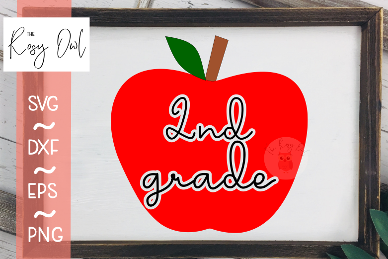 Second Grade Apple SVG PNG DXF EPS