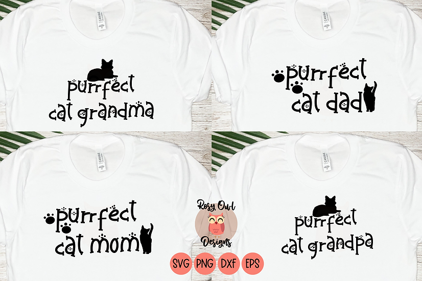 Purrfect Cat Lovers SVG Bundle | Cat Family SVG
