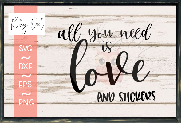 Love and Stickers SVG PNG DXF EPS