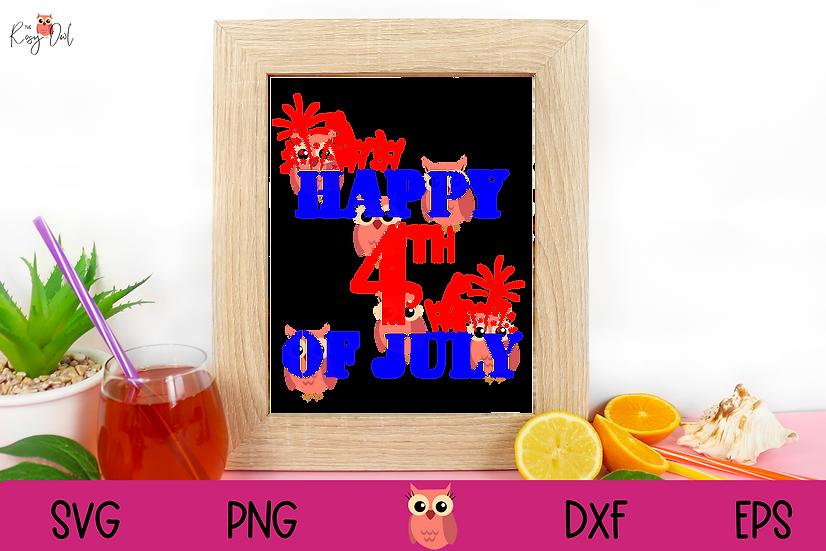 Fourth of July SVG   Patriotic SVG   Happy 4th SVG