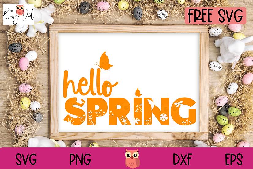 Free Spring SVG   Hello Spring SVG