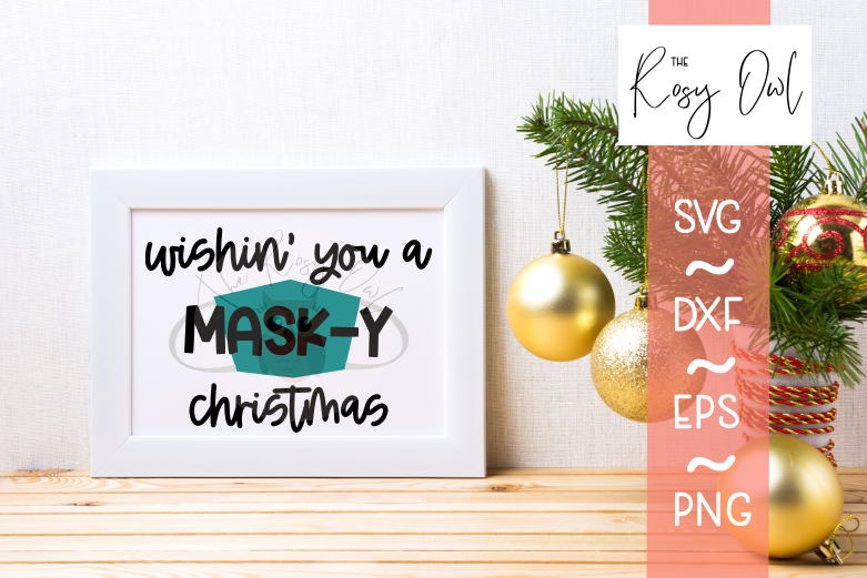 Mask-y Christmas SVG PNG DXF EPS