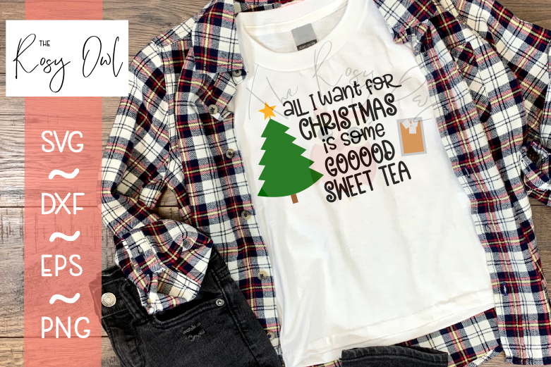 Sweet Tea for Christmas SVG PNG DXF EPS