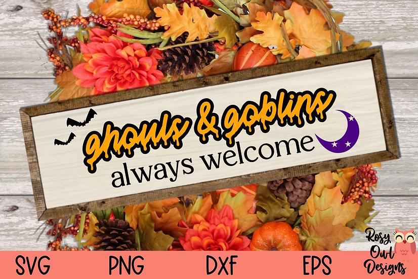 Ghouls & Goblins Always Welcome SVG | Halloween SVG