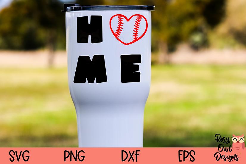 Home SVG | Baseball Heart SVG | Baseball Season SVG