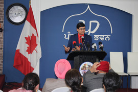 Inderjit Dhami Book release program