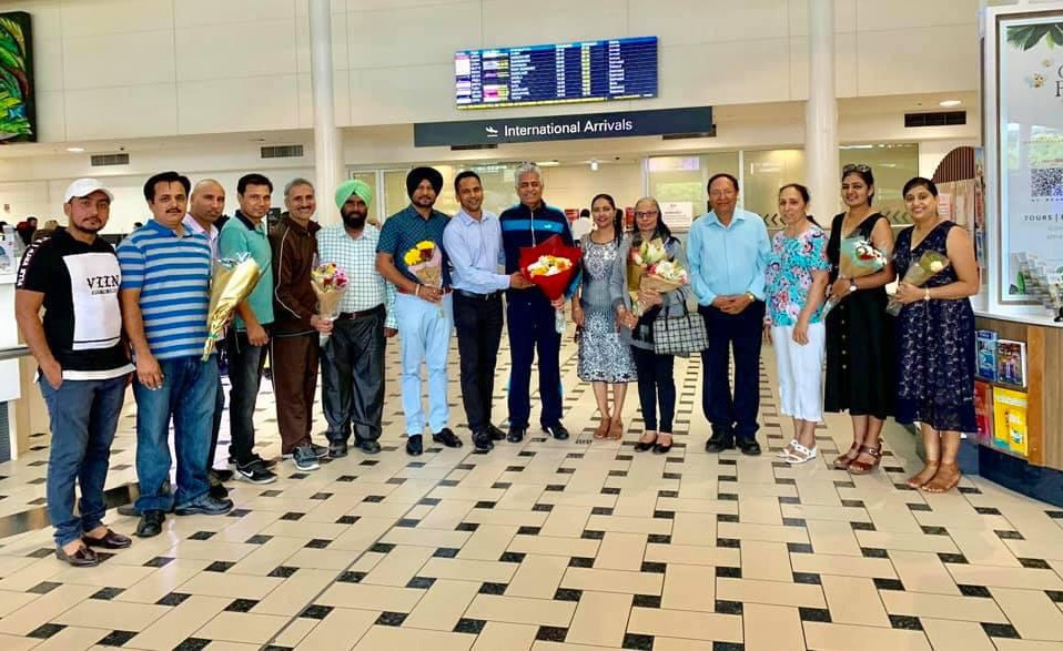 Punjab Bhawan team welcomed at Australia airport