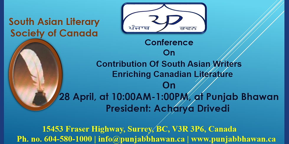 Conference on Contribution Of South Asian Writers