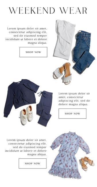 Email Design: Weekend Wear