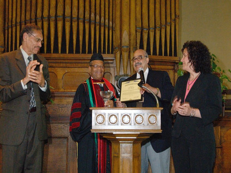 Glenn Nance, Rev. Dr. J Alfred Smith, Sr., Dr. Aubrey Dent, and Clara Allen - Presentation of the HT Award to Dr. Smith