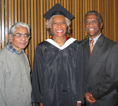 Dorothy Person with Shashi and Dr. Blake