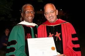 Dr. Dorsey Blake adn Dr. Jeremiah Wright, HT Award Recipient