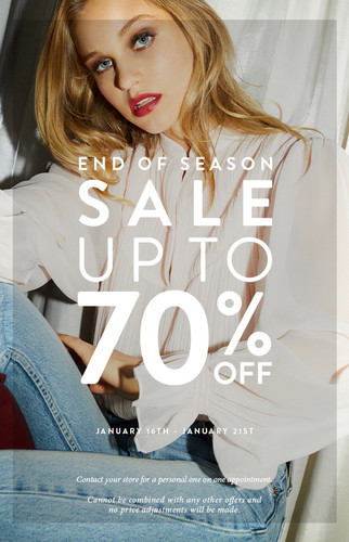 Email Design: End of Season Sale