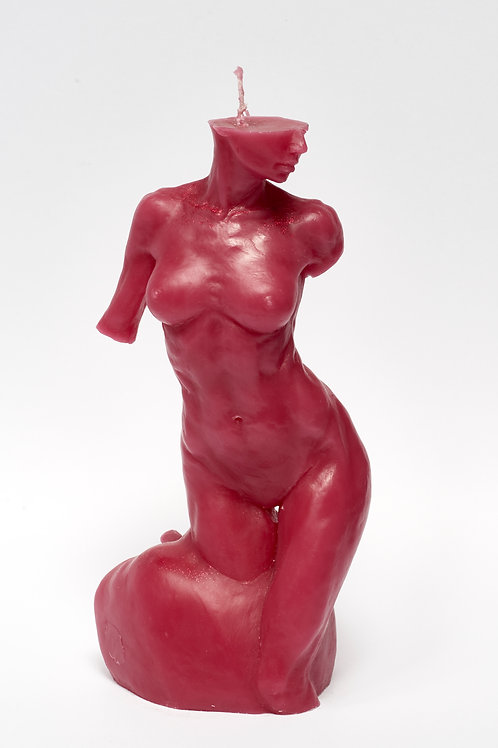 Bitten by Eve - WINE RED sculpture candle