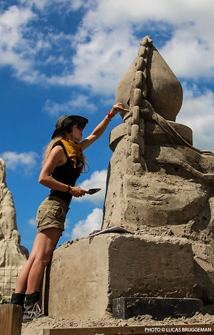 Marieke zandsculptuur