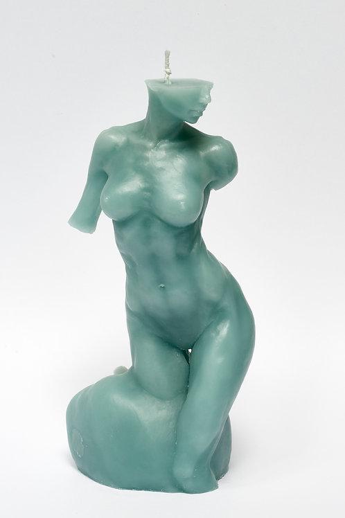 Bitten by Eve - BLUE PETROL sculpture candle