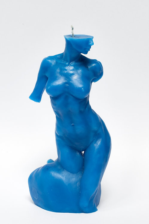 Bitten by Eve - TROPICAL BLUE sculpture candle
