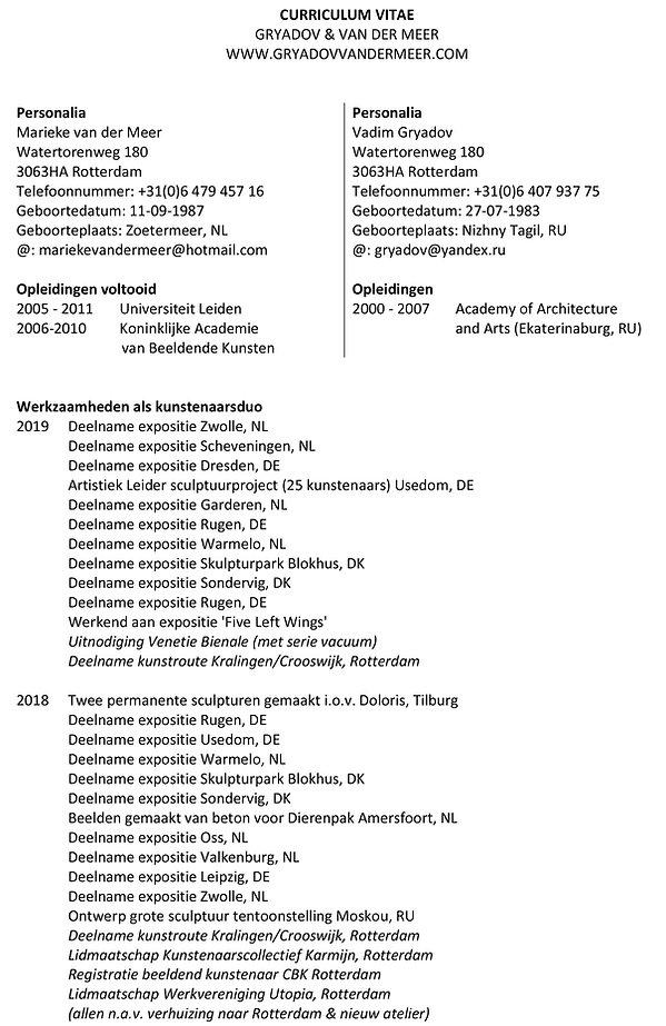 CURRICULUM VITAE - Gryadov & Van der Mee