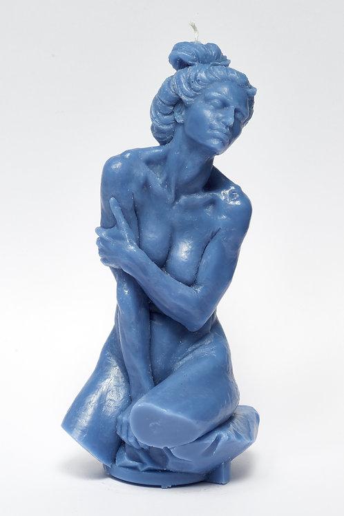 When the fox met Julie - SKY BLUE sculpture candle
