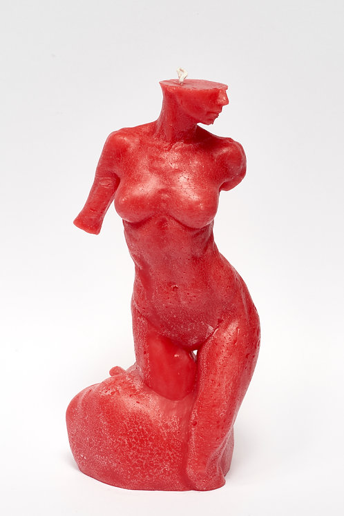 Bitten by Eve - RED CRAQUELÉ sculpture candle
