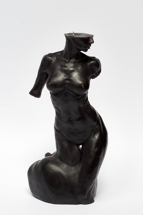 Bitten by Eve - BLACK sculpture candle