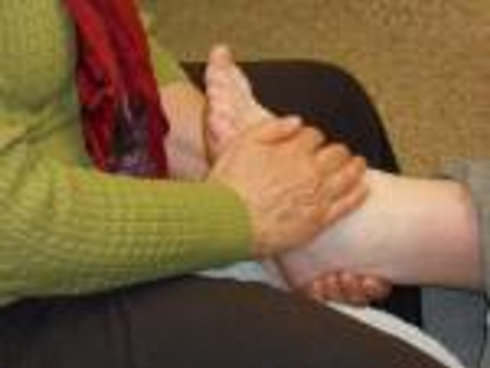 Having a Spa Night Foot Massage