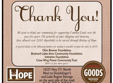 Common Goods–5 Years and 5 Ways to Say Thanks!