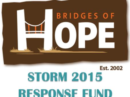 Storm 2015 Relief Efforts & Resource Updates