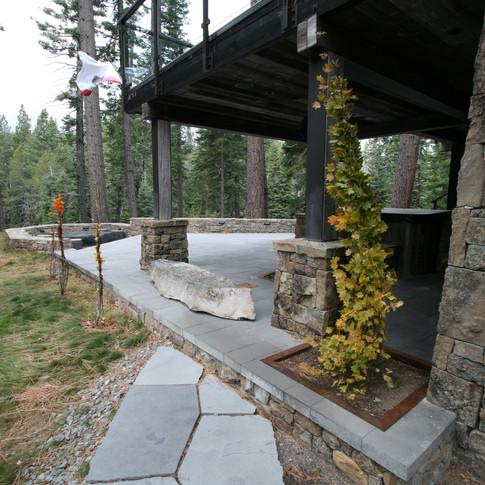 Tahoe Cabin backyard