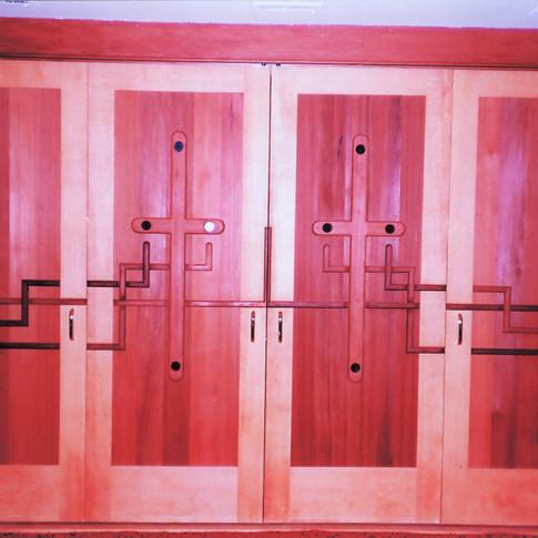 Doors to Mill Valley chapel