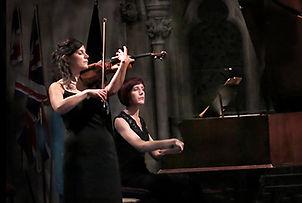 Anita D'Attellis, piano, Marian Givens, violin, Salisbury Chamber Music, Franck Sonata