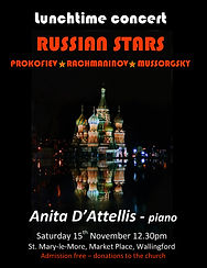 Russian Recital, Anita D'Attellis, Rachmaninov, Prokofiev, Mussorgsky, piano