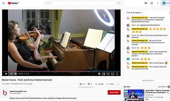 Marian Givens, violin, Anita D'Attellis, piano, Brahms, Bartok, Libby Croad, Schumann, FAE sonata, Einaudi