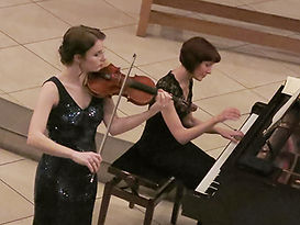 Anita D'Attellis, piano, Hannah Bethan Roper, violin, Wallingford, French Connection, Debussy, Ravel, Saint-Saens