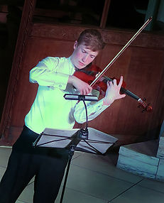 Benedict Bradley, violin, Winter Recitals, Wallingford, Anita D'Attellis, piano