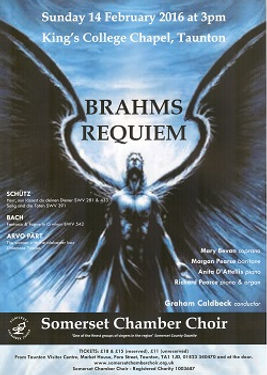Somerset Chamber Choir, Richard Pearce, organ, Anita D'Attellis, piano, Brahms Requiem