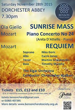 Mozart Concerto, K.491, Benson Choral Society, Anita D'Attellis, piano