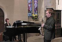 Edward Leaker, saxophone, Anita D'Attellis, piano, Deverill's Festival