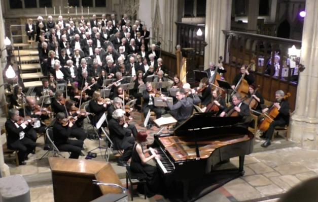 Grieg concerto, Anita D'Attellis, piano, Richard Laing, Dorchester Abbey