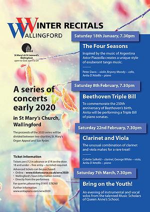 Winter Recitals, Wallingford, 2020, Anita D'Attellis, piano