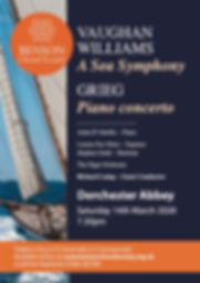 Grieg Piano Concerto, Benson Choral Society, Anita D'Attellis, piano, Dorchester Abbey, Vaughan Williams, Sea Symphony, RVW, Richard Laing