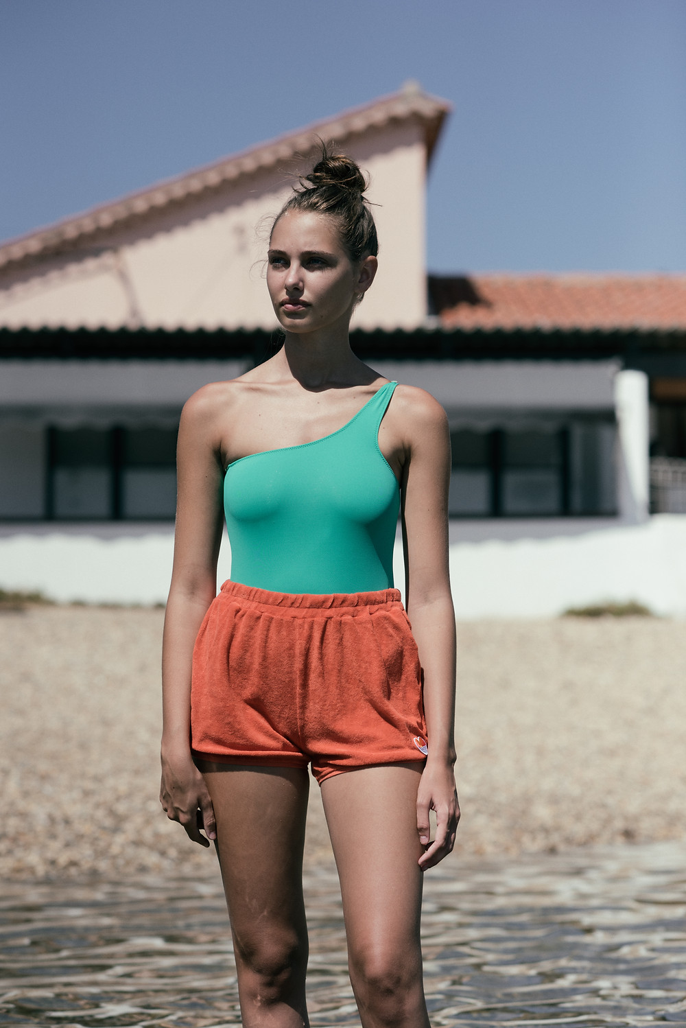 Shorts by Hundred Pieces / swimsuit by Pacific Rainbow