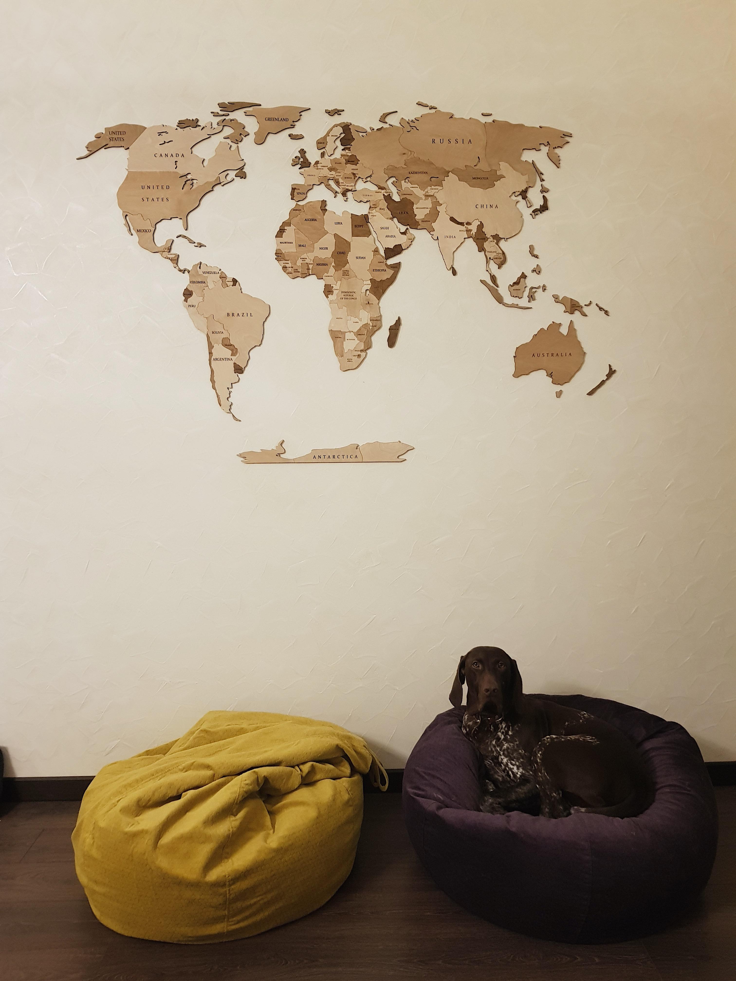 одноуровневая карта цвет орех