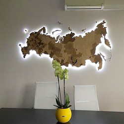 Карта России 200 см с подсветкой