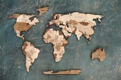 карта мира 140/80 см