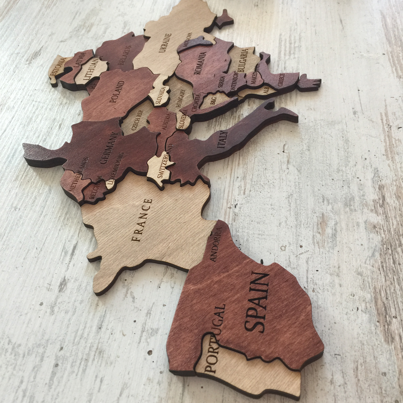 многоуровневая карта цвет махагон