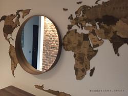 карта мира цвет орех