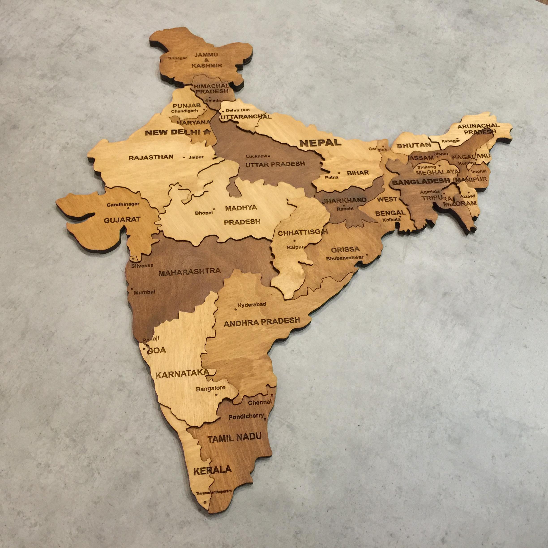 многоуровневая карта Индии