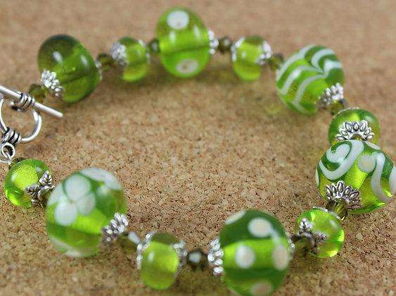 Transparent lime greens