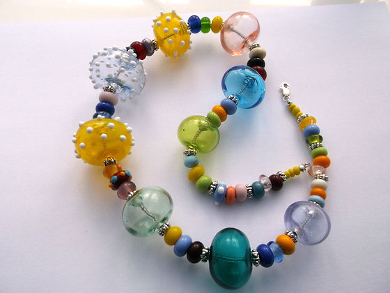Hollow Beads with Spots